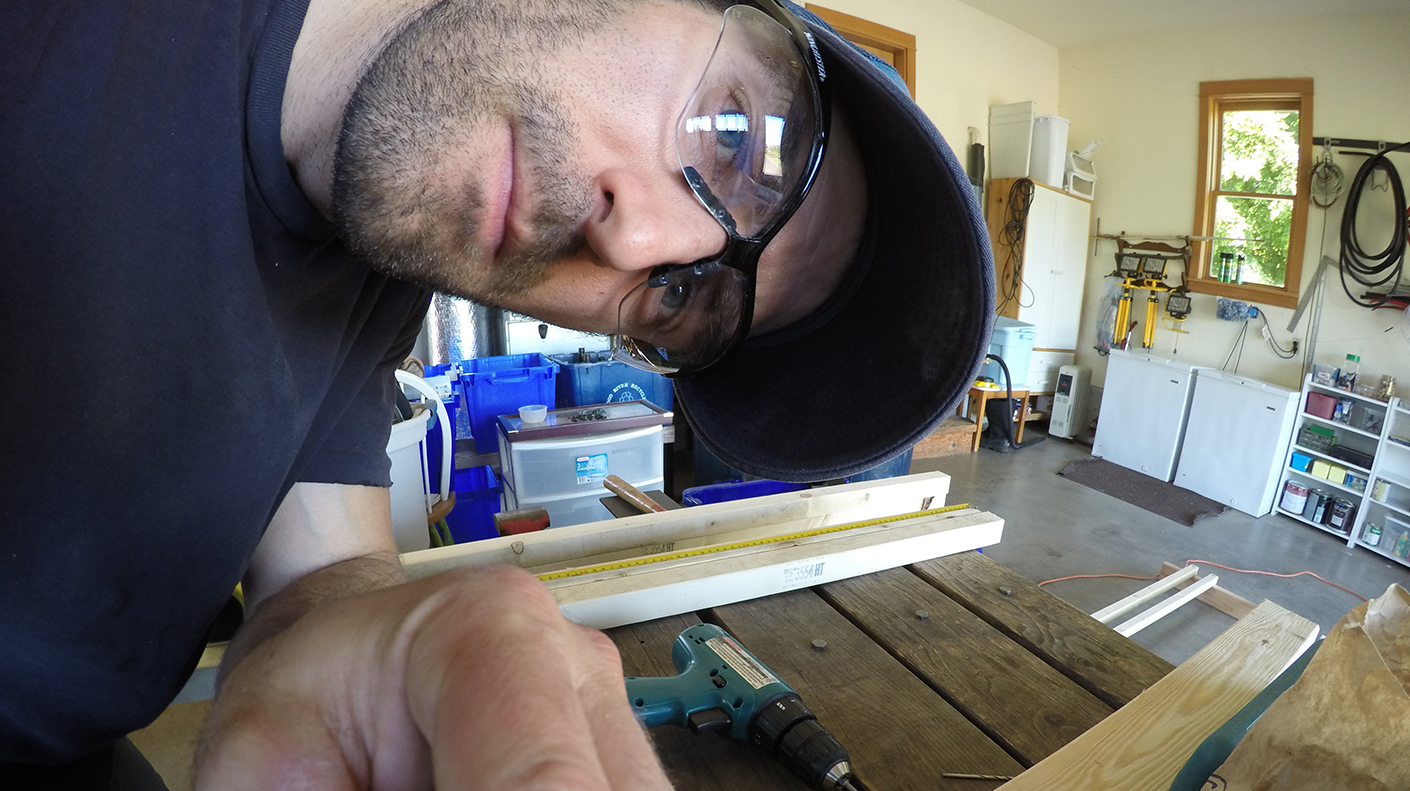Chris Muhl Artist Building A Wood and Plexiglass Easel
